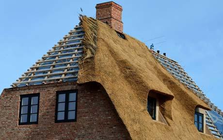 rieten dak plaatsen Elsene