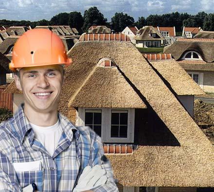 rieten dak Hooglede